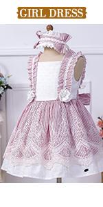 Girl pink dress