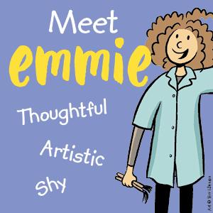 meet emmie, thoughtful, artistic, shy