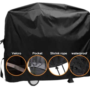 Grill cover with a grill brush for Tepro Toronto charcoal grill gas grill cover