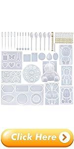 EuTengHao 132Pcs Animal Silicone Molds DIY Resin Casting Molds Kit