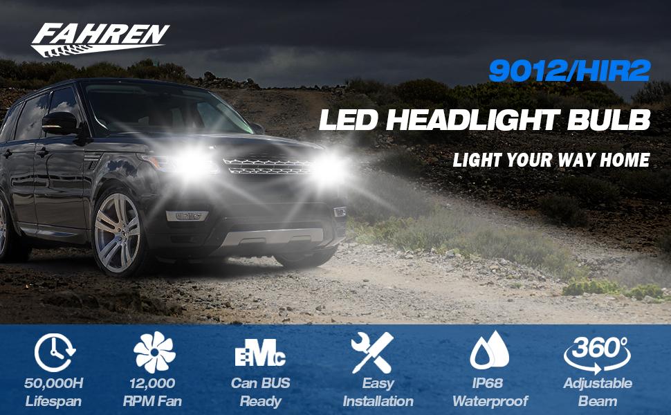9012 led headlight
