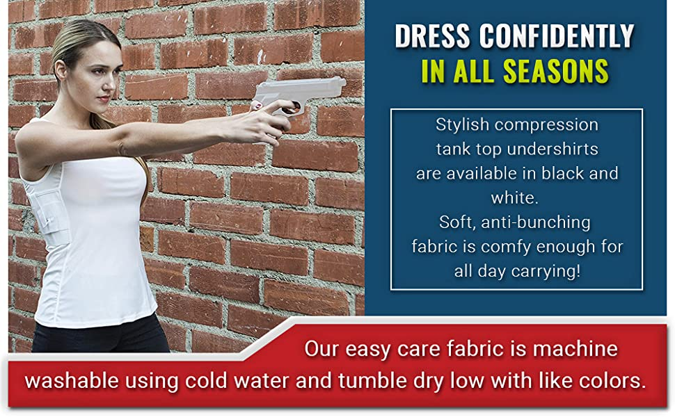 All Season Comfort with our Breathable Fabric CCW Holster Shirts for Women