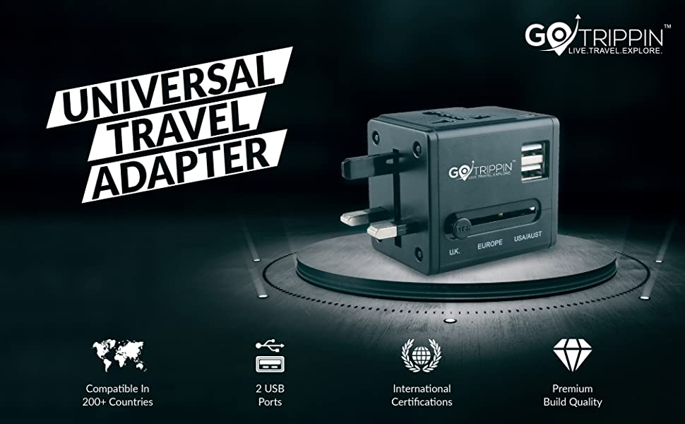 universal travel adapter with usb ports