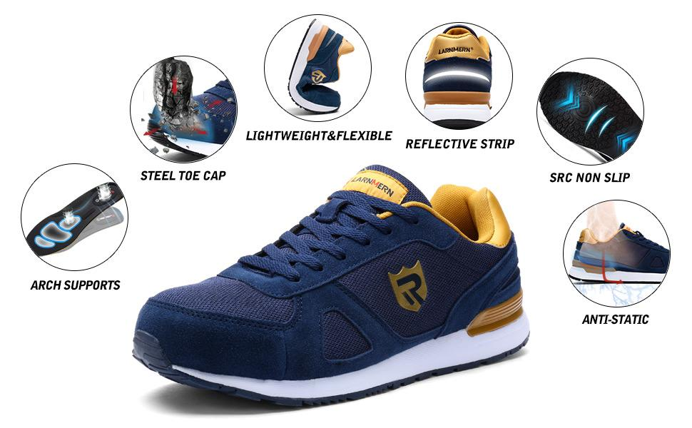 LARNMERN Safety Shoes Trainer