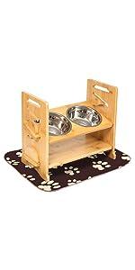 adjustable raised dog bowl stand