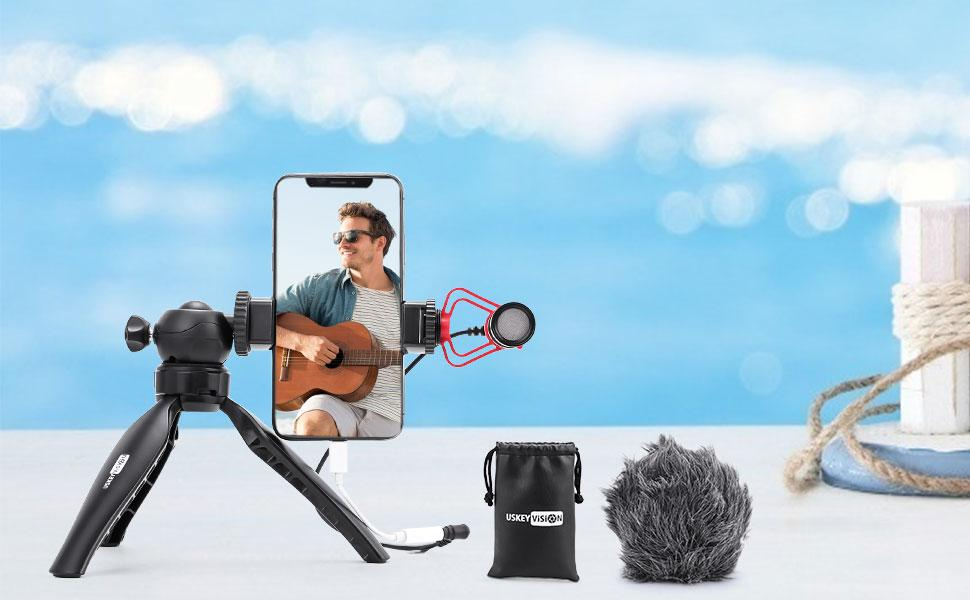 USKEYVISION Video Microphone Kit for Vloggers and Youtubers.
