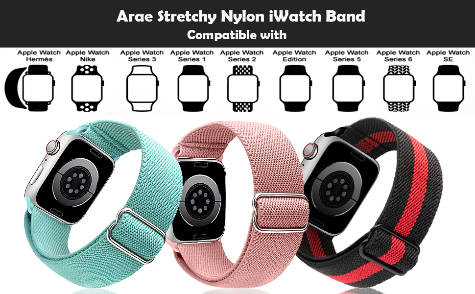 watch band series 6 5 4 SE 44mm 40mm series 3 38mm 42mm band sport women men adjustable strap