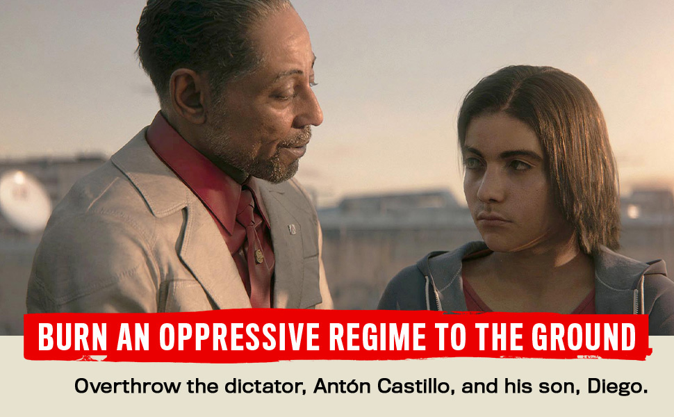 Overthrow the dictator, Anton Castillo and his son, Diego