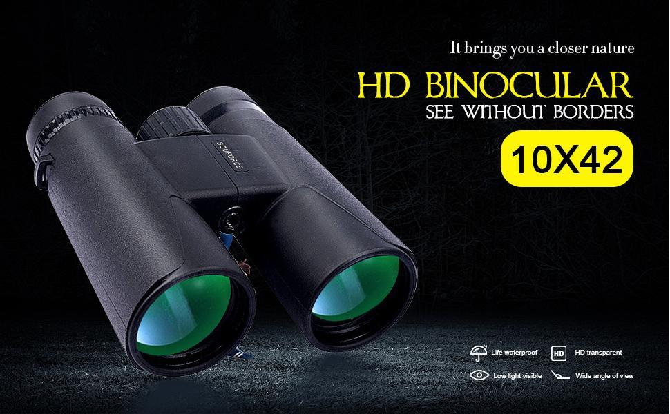 10x42 HD binocular brings you a closer nature