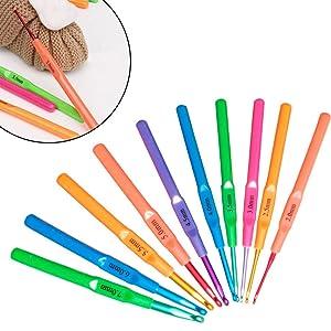 Katech Plastic Handle Crochet Needles
