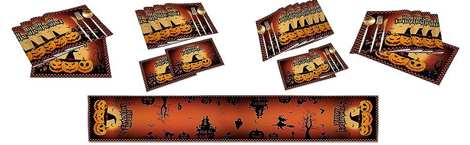 Halloween Table Runner Set