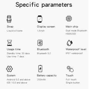 Specific perameters