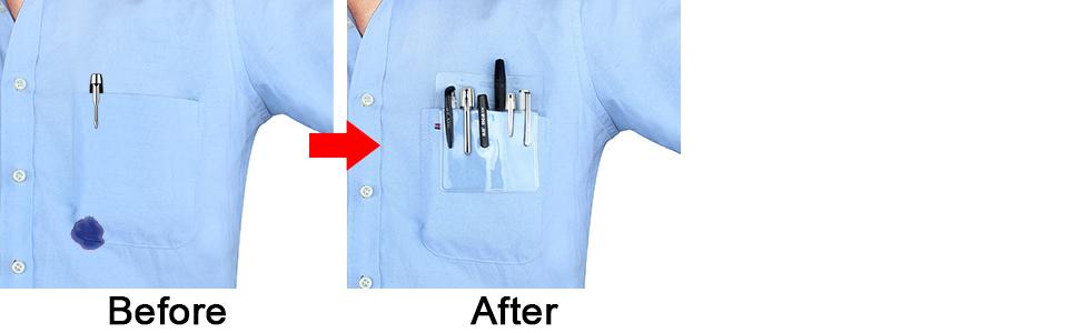 pocket protectors for pens and pencils