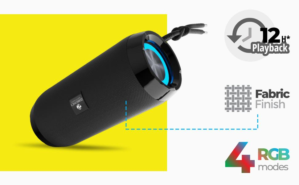 Portable Speaker,Wireless Portable Speaker,Wireless Portable Speaker with RGB Lights