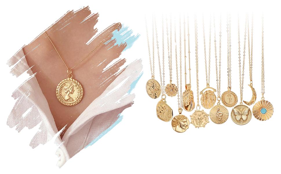 retro pendant necklace for women