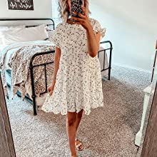white tiered dresses