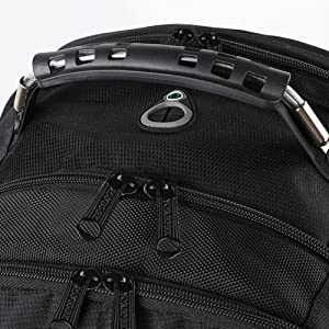 Comfortable Sturdy Handle & Lockable Metal Dual-Zippers