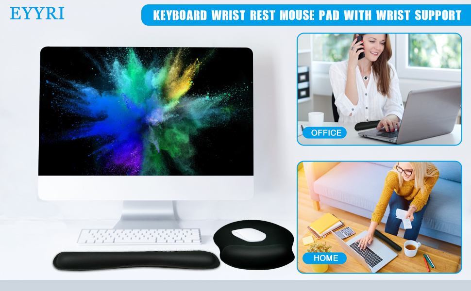 Keyboard Wrist Rest Mouse Pad