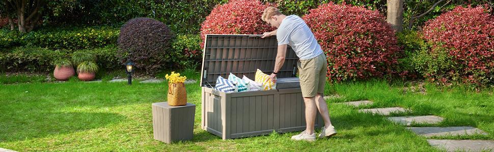 120 gallon deck box