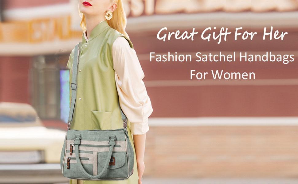 satchel handbag top handle for women