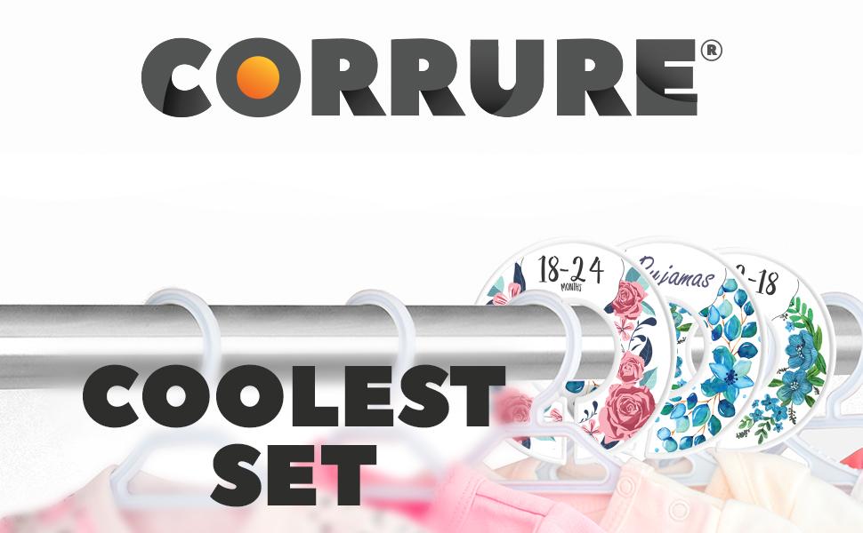 CORRURE Baby Closet Size Dividers Clothes Separators