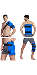 Blue large ice pack wrap