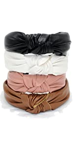 leather knotted headband