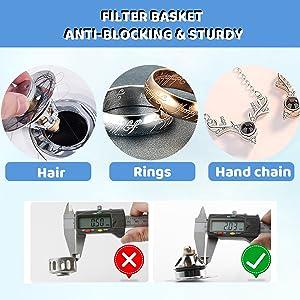 Filter Basket, Anti-Blocking amp;amp;amp;amp;amp; Sturdy