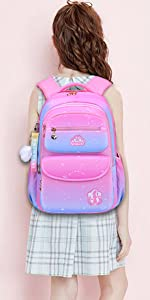 Backpack for Girls, Waterproof Kids Backpacks Princess School Bag Toddler Bookbags Cute Travel