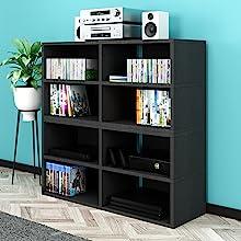 Way Basics TV Stand Multimedia Shelves