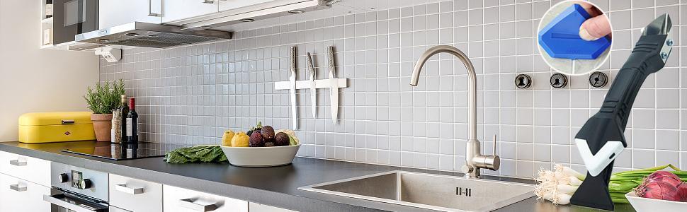 Caulking Remover Tool, Great Helper for Home Decor, Kitchen Window Bathroom Floor