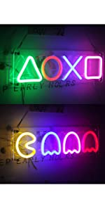 playstation neon schild