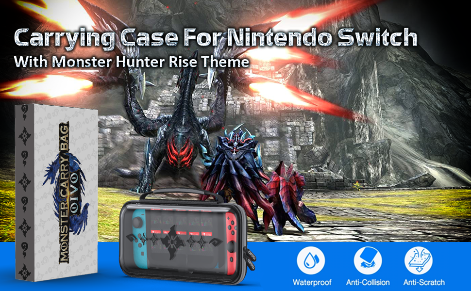 Moster Hunter Rise Theme carrying case