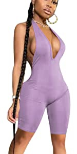 Jumpsuits for Women Casual Deep V Neck