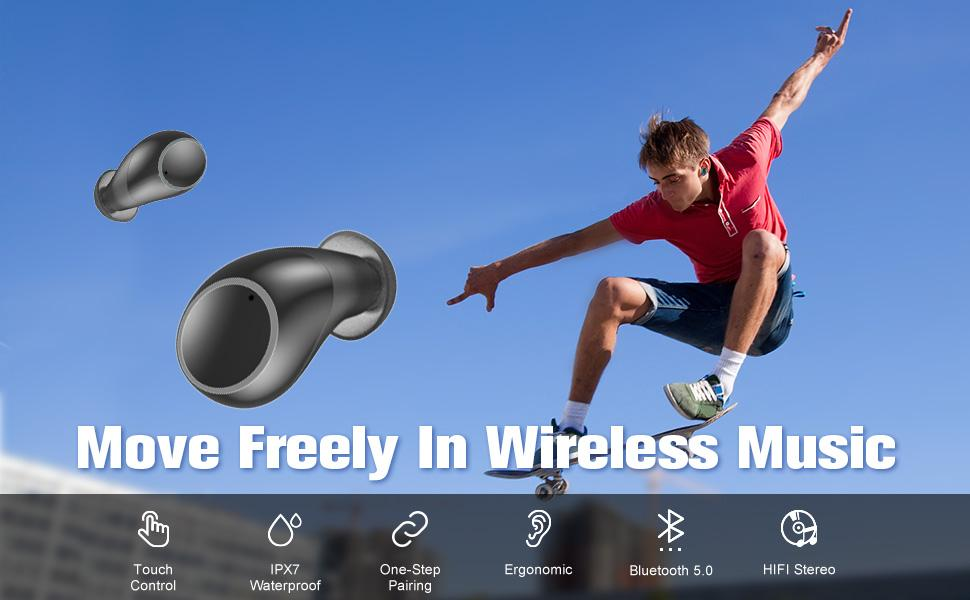 move in freely wireless music