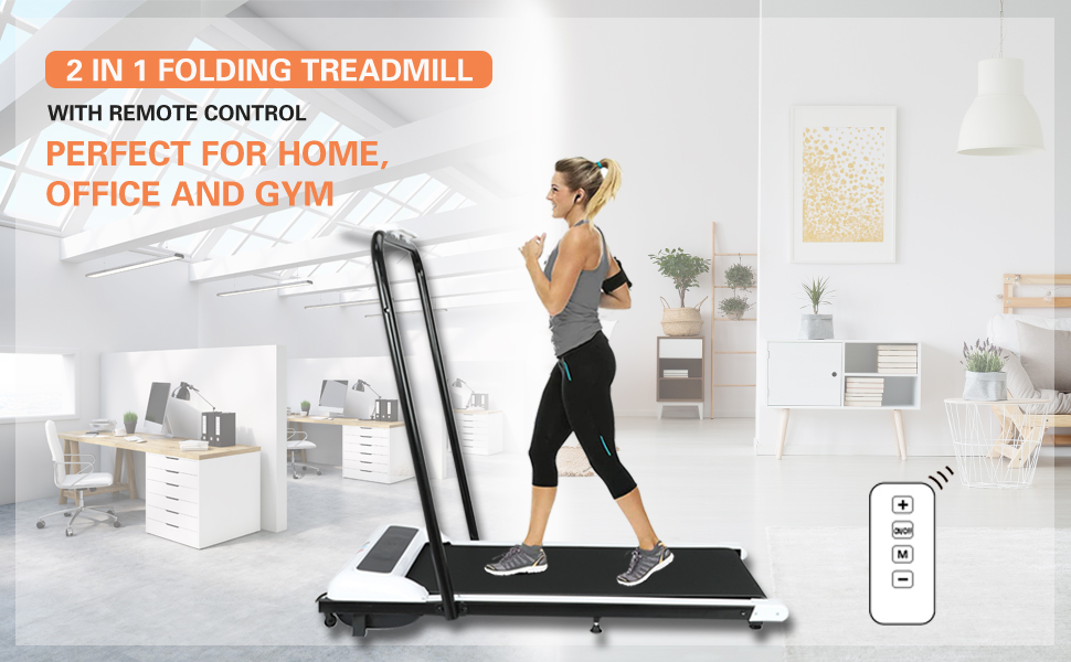 portable foldable small under desk treadmill walking pad for home