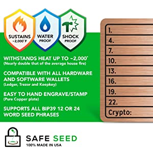 Safe Seed Copper Plate