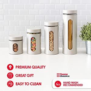 tea canisters, coffee canister, mason jar canisters, flour canister, glass canister set