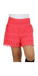 girls crochet lace shorts single pair