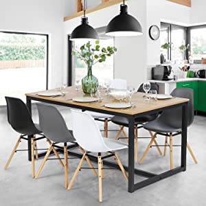 Table à manger DETROIT design industriel