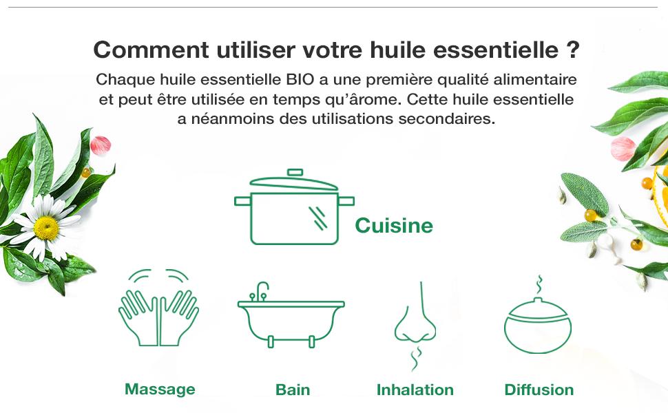 Voshuiles, huile essentielle de basilic, plante parfumée, huile pour préparation culinaires
