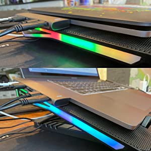 rgb lights laptop cooling stand