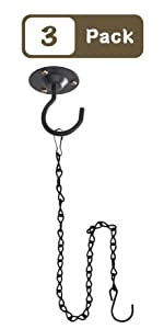Hanging Planters Ceiling Hooks with Hanging Chain Hook
