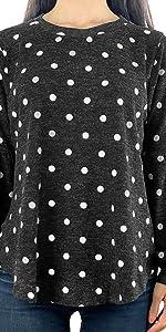 Hacci Tunic Polka Dots Knit Top