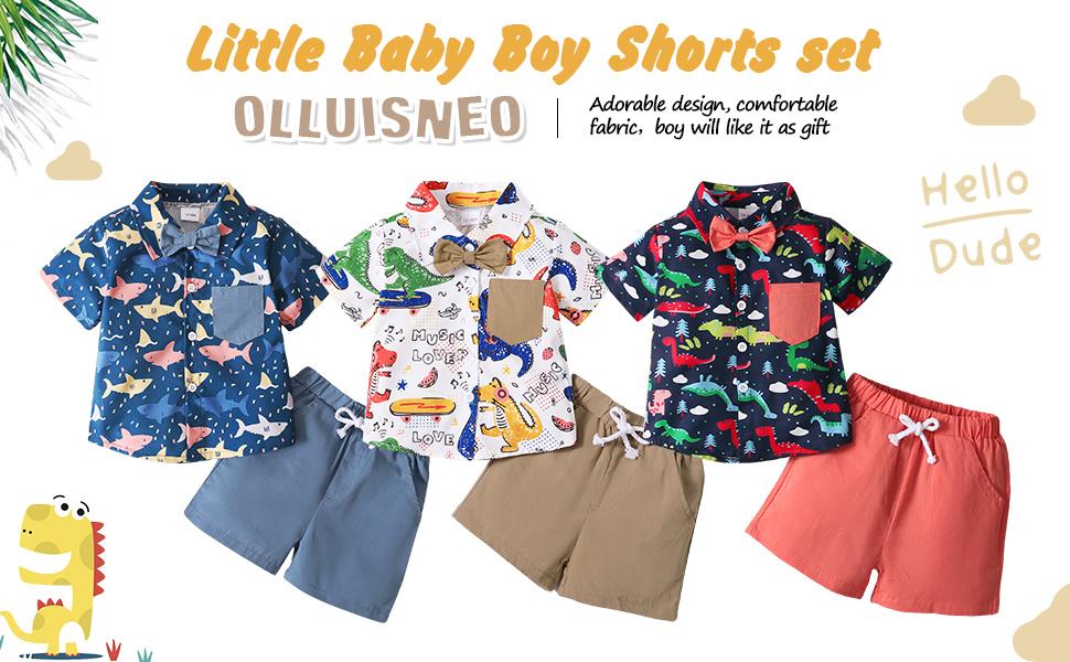 little boy shorts set