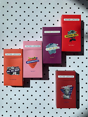 Cigarette case lip glaze