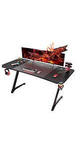 z shape gaming desk