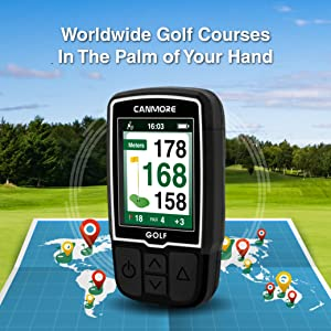 CANMORE HG200 GOLF GPS Worldwide course in the palm of your hand