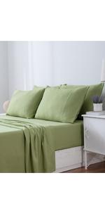 Avocado Green Sheet Set