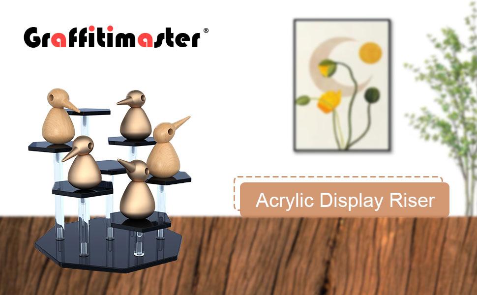 acrylic display riser stand shelf